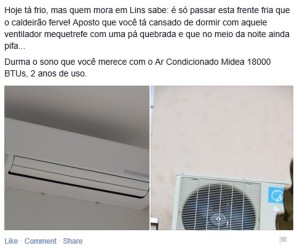 anúncio ar condicionado split