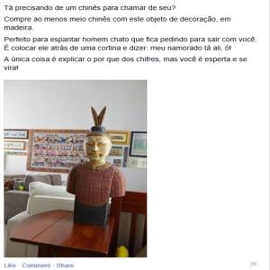 anúncio estátua busto chinês