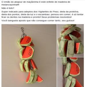 anúncio melancias bazar facebook