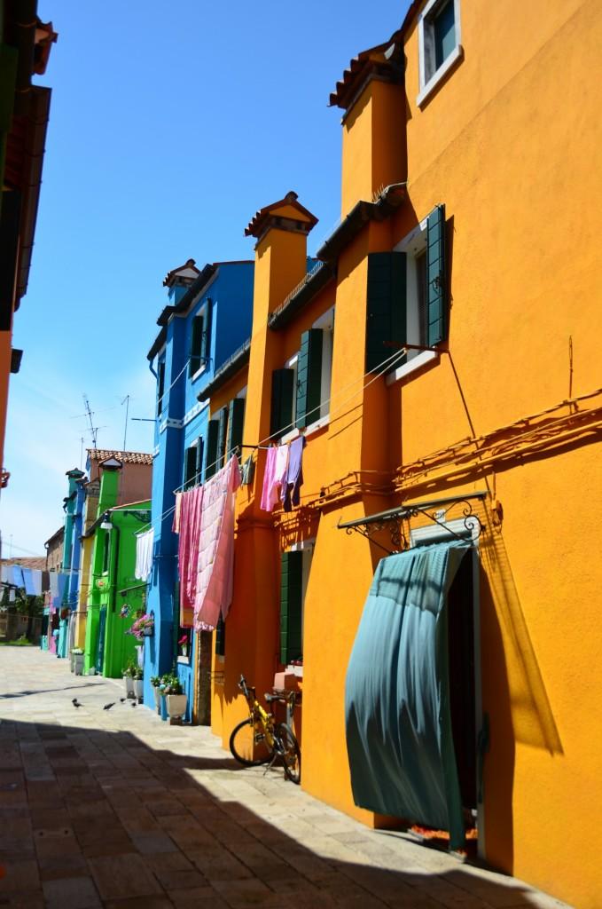 casas coloridas pescadores burano itália