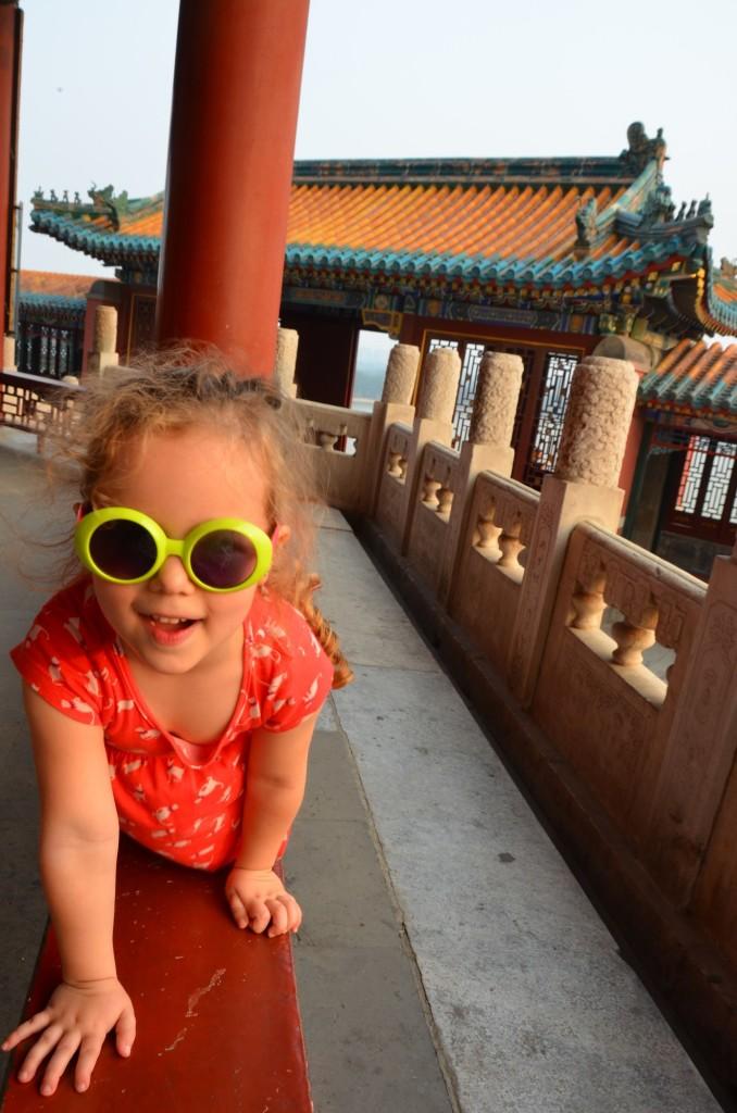criança óculo palácio de verão china pequim beijing