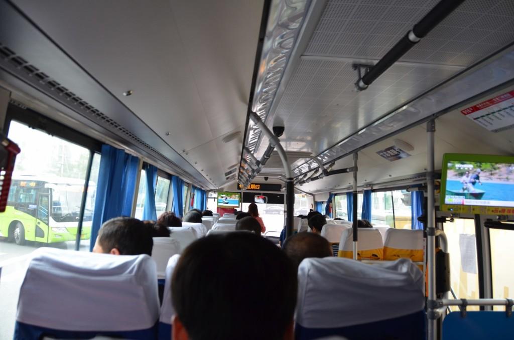 ônibus indo para muralha da china