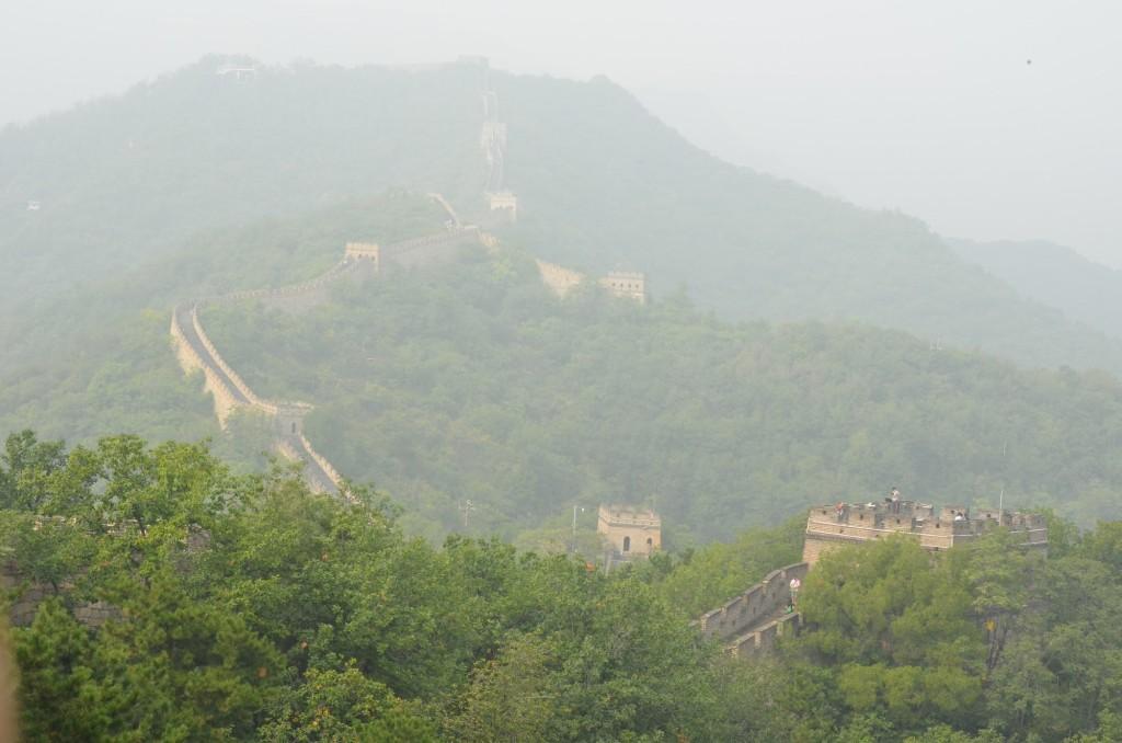 muralha da china neblina poluição