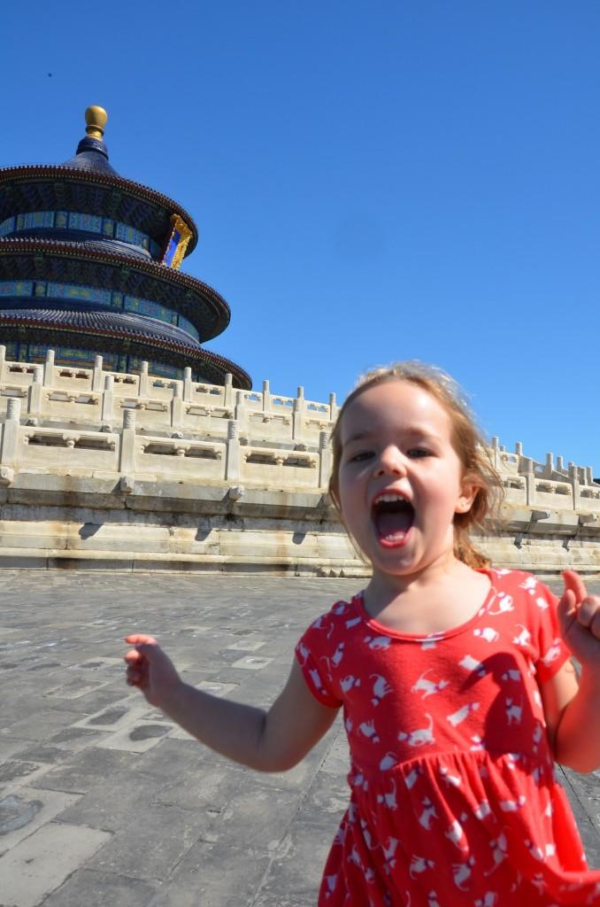 criança templo do paraísdo templo do céu china pequim beijing