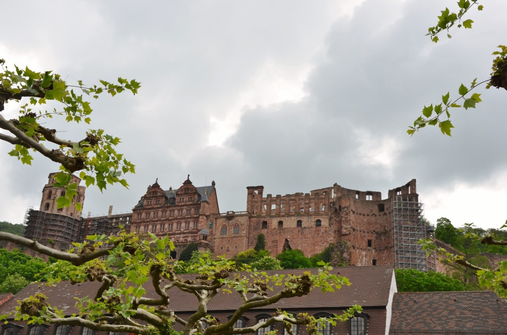 castelo heidelberg dia nublado