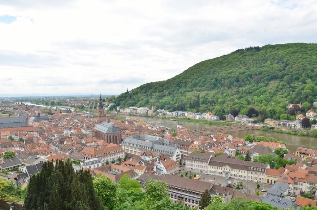 cidade heidelberg dia nublado beira rio