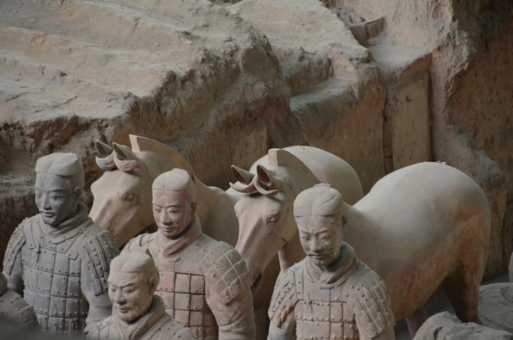 guerreiros de terracota e cavalos xi'an china