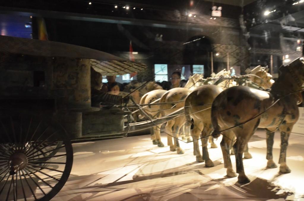 carruagem carroça guerreiros terracota china xi'an