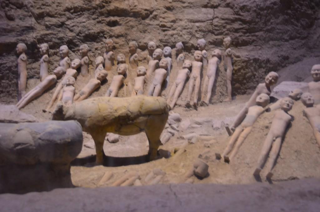Museu Hanyangling Xi'an figuras de cerâmica