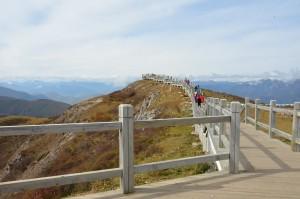 montanha huanglong china mirante