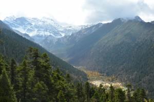 huanglong vista aérea montanha china
