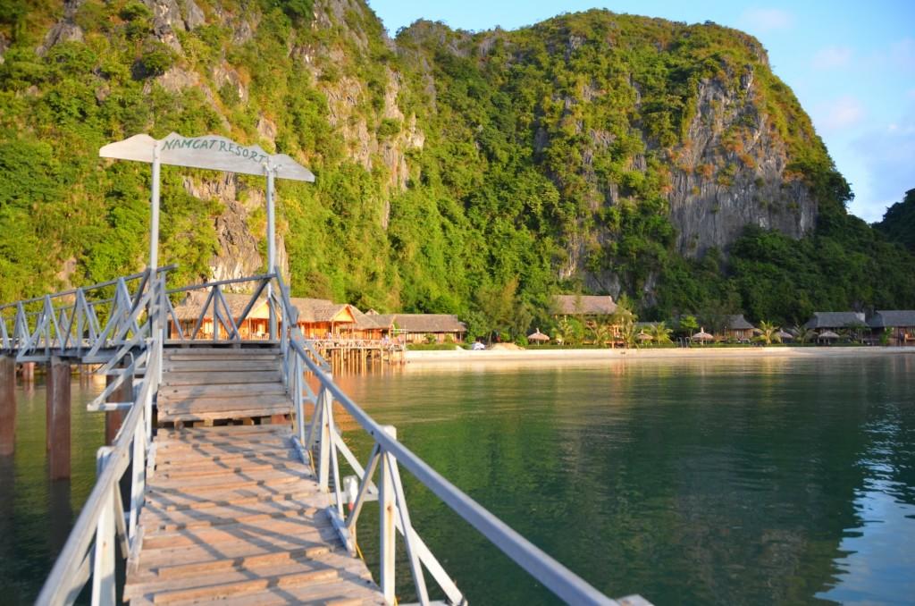 am cat resort halong bay cat ba praia paraíso
