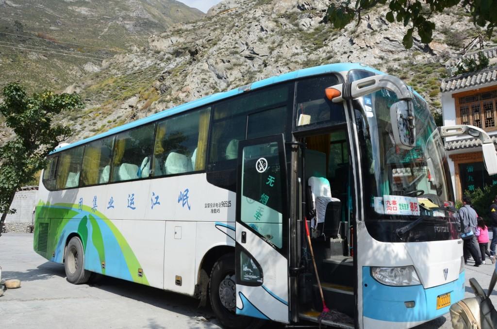 viagem de ônibus na China