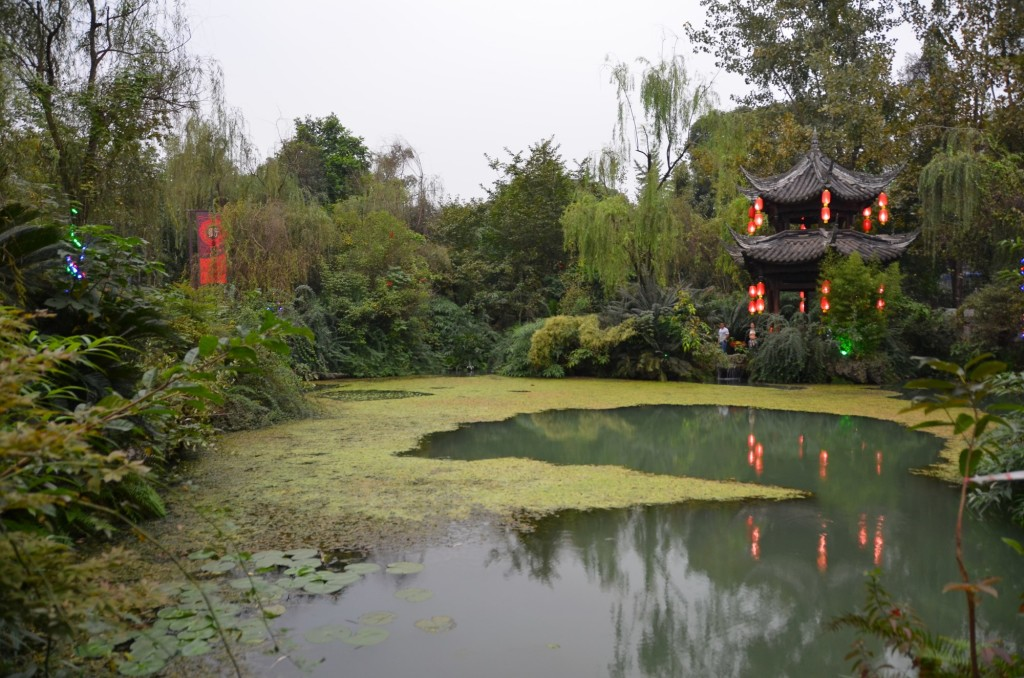 casa de chá verde vermelho chengdu china