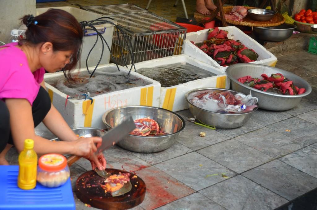 tartaruga comida de rua mercado vietnam hanoi