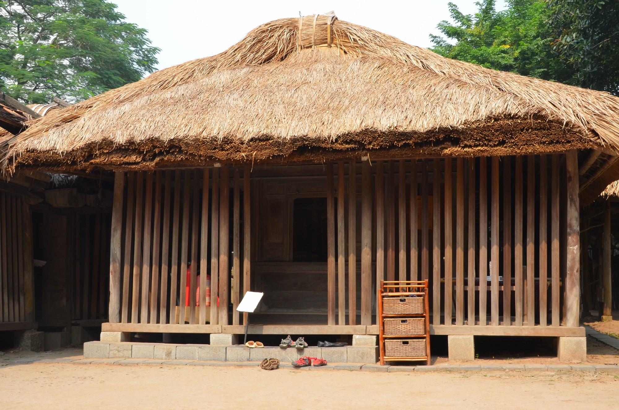 casa etnia cham madeira palha museu etnografia etnologia vietnam hanoi