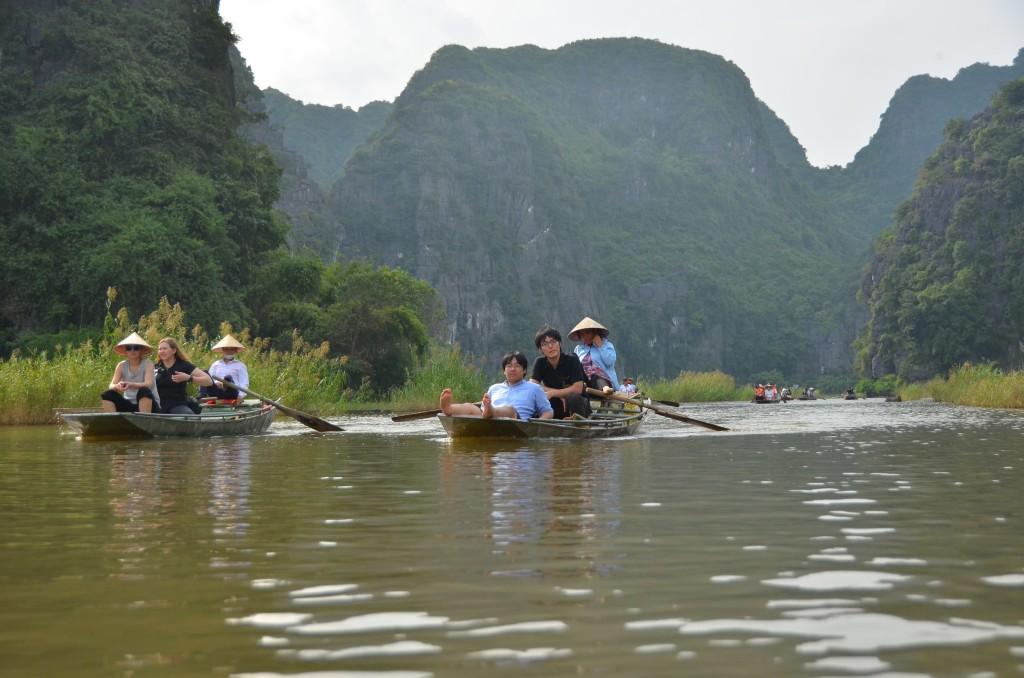 tam coc, rio, montanha, barco, vietnam