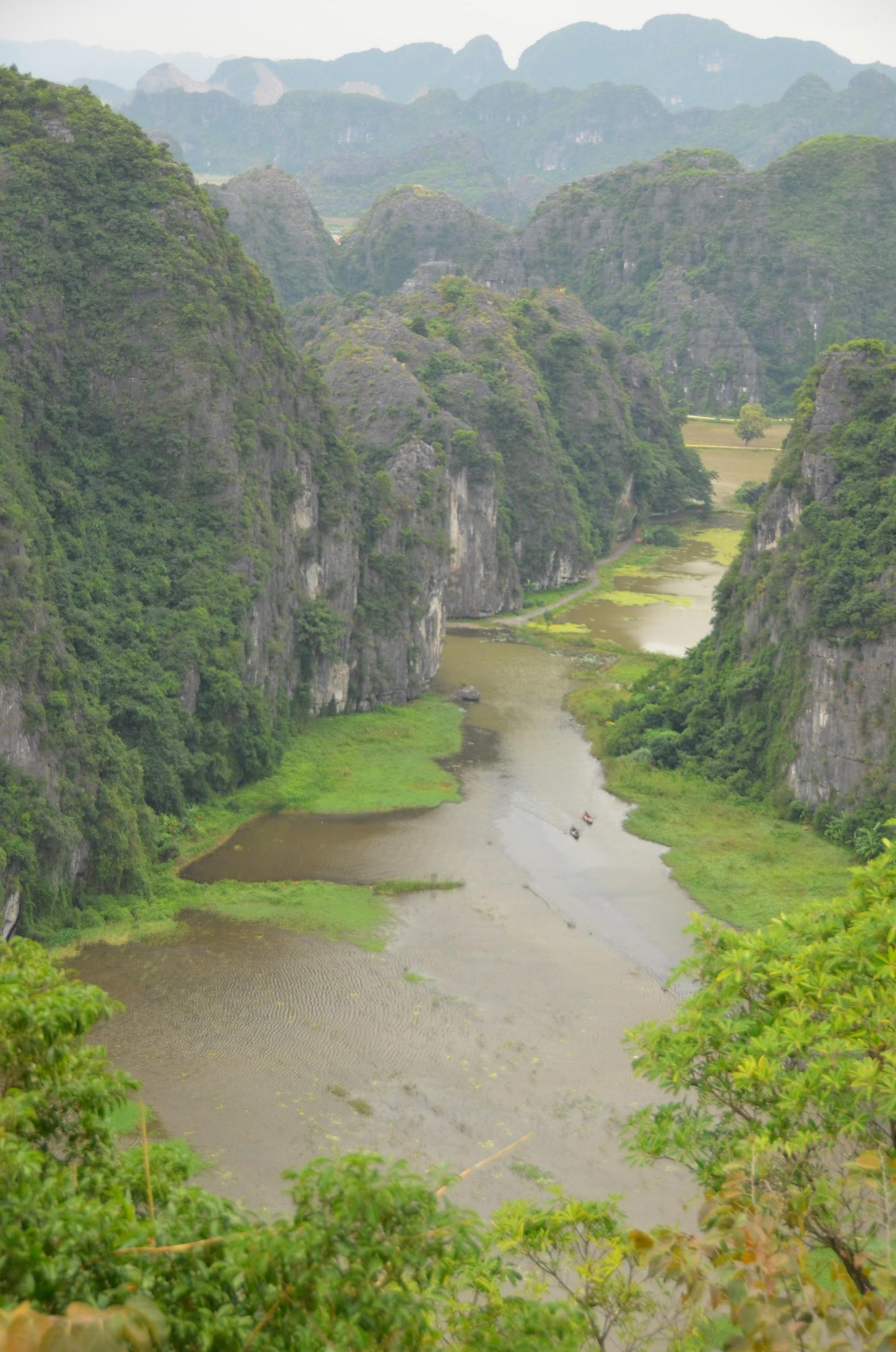 Tam coc, hang mua, montanha, rio, vista