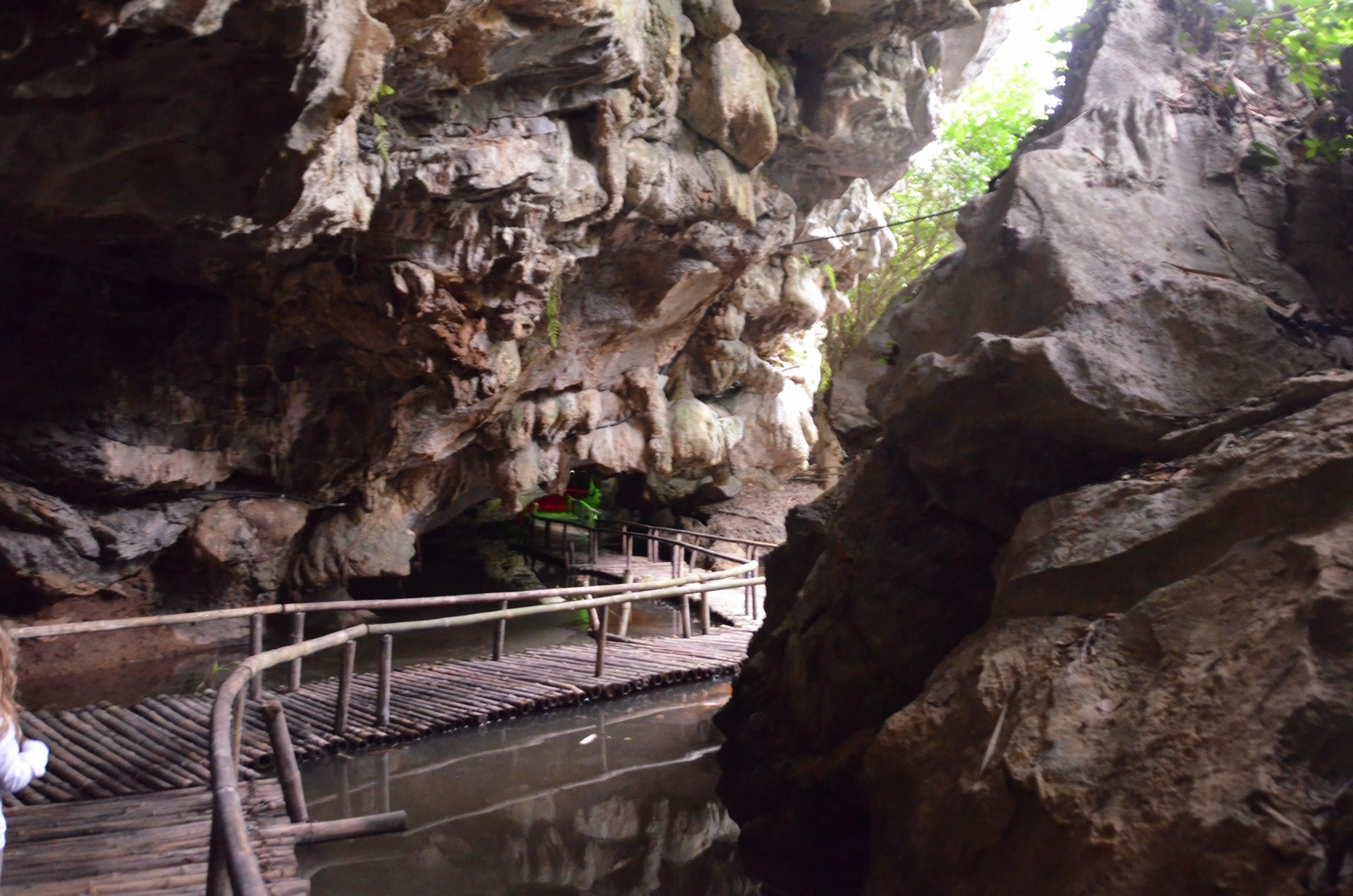 caverna, passarela, vietnam, tam coc