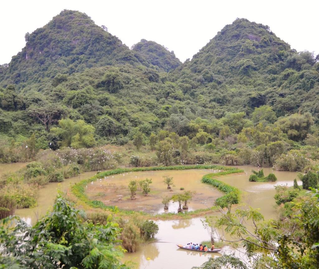 banhado, montanha, tam coc, vietnam