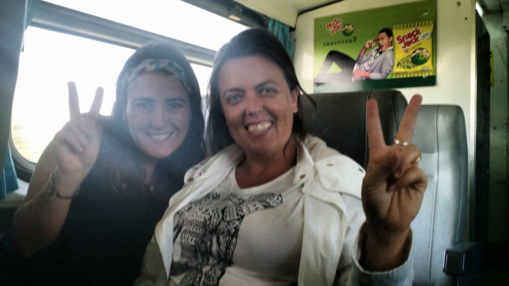 Minha amiga viajante Maria y yo