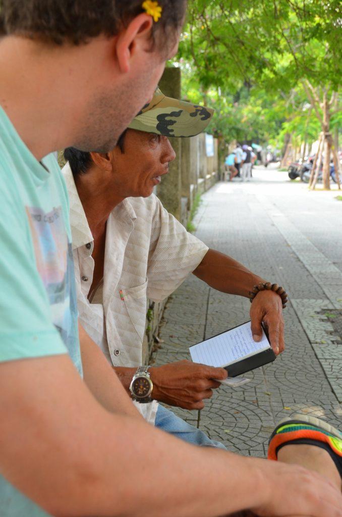 hué, rick shaw, golpe, turista, vietnam