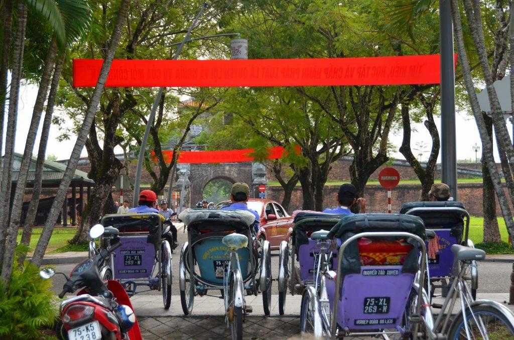 rickshaw, hue, vietnam, citadela, cidade imperial
