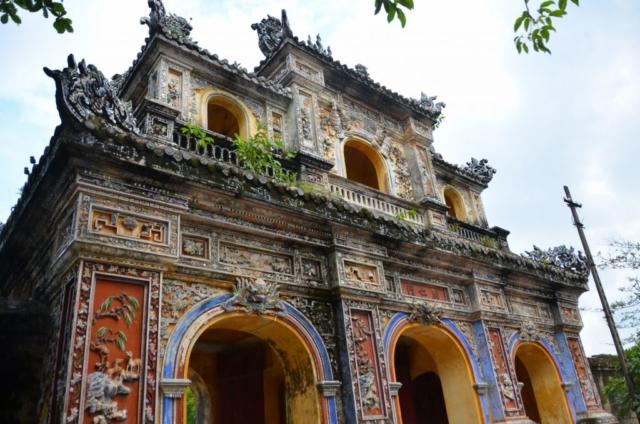 Hué, Vietnam, citadela, cidade imperial, portão, mosaico