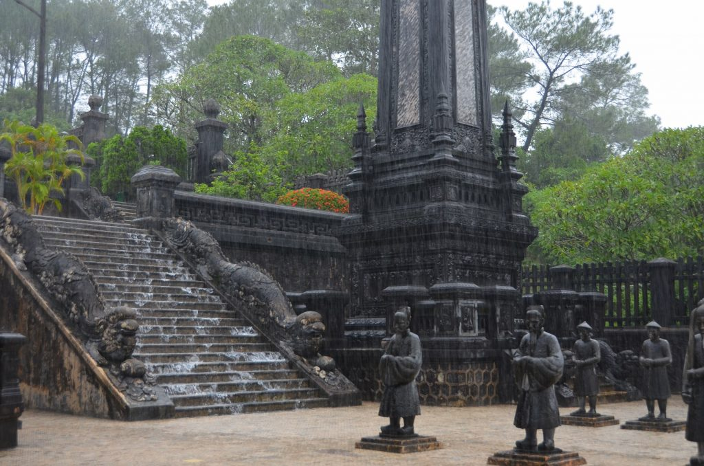 mausoléu, hué, vietnam, chuva, monção