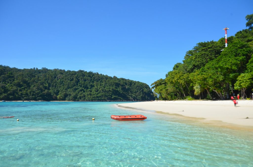 kohm rok, tailândia, mar, azul, ilha, deserta